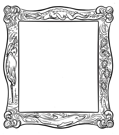 Frame Coloring Page frame coloring page clipart best