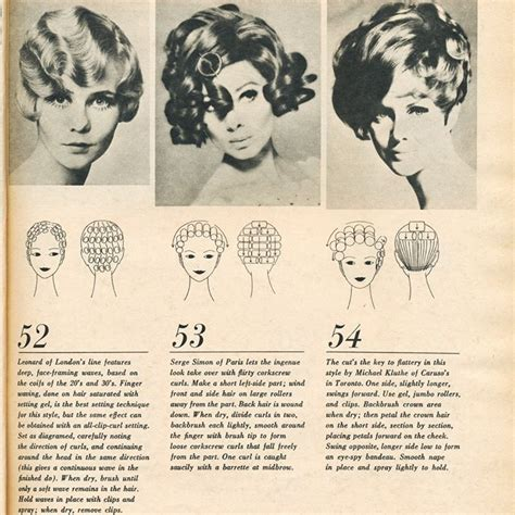 pattern for roller set vintage hairstyle with roller setting pattern hair