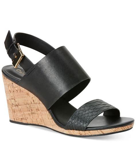calvin klein s bibbi wedge sandals only at macy s