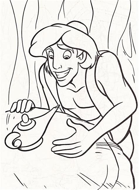 Free Printable Aladdin Coloring Pages For Kids Coloring Book Page