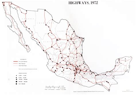 maps de mexico maps of highways map mexico 1972 mapa owje