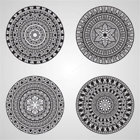 mandala pattern font vector mandala set patterns on creative market