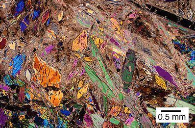 tremolite thin section talc tremolite schist