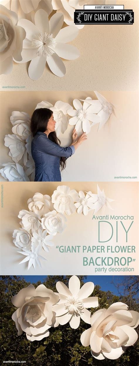 tutorial paper flower backdrop download the app to see diy quot giant paper flower backdrop