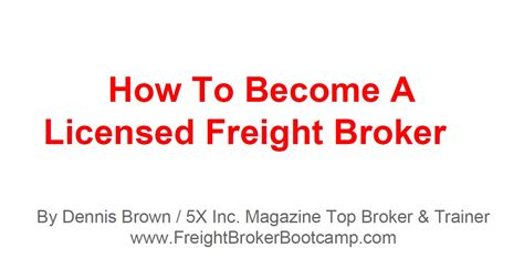 What Education Is Needed To Become A Stockbroker by Freight Broker How To Become A Licensed Freight Broker