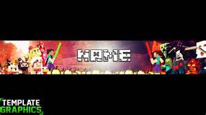 sick free mincraft youtube banner template youtube