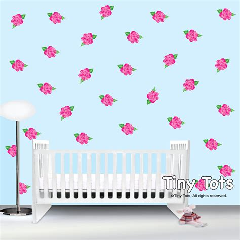 Rose Wall Decals Stickers Shabby Chic Nursery Wall Shabby Chic Decals