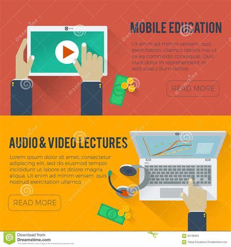 online education illustration flat design illustration online education flat illustration stock vector image