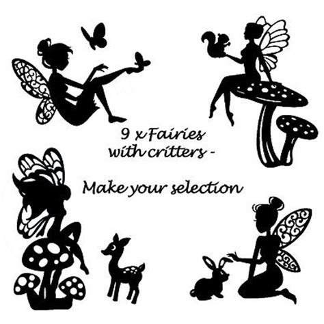 woodland silhouette l shade die cut out silhouette fairies woodland animals x 9
