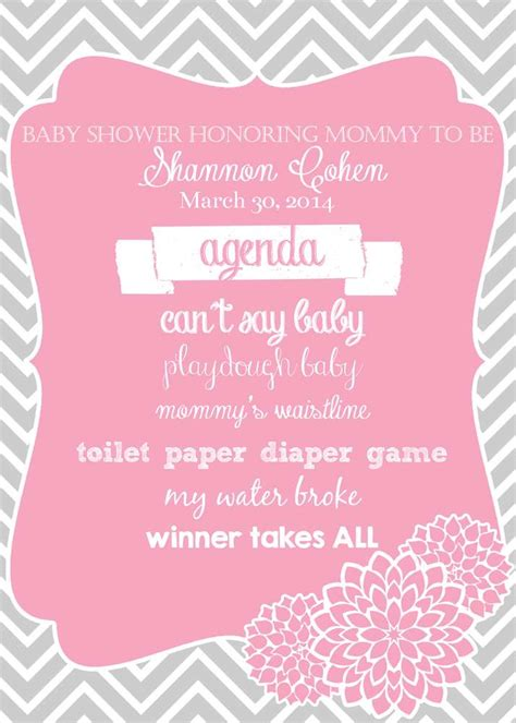 Baby Shower Agenda Template by Welcome Baby Baby Shower Ideas Photo 1 Of