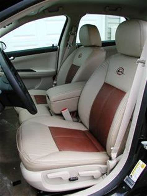 chevy impala leather seats custom automotive leather interior two tone contrast