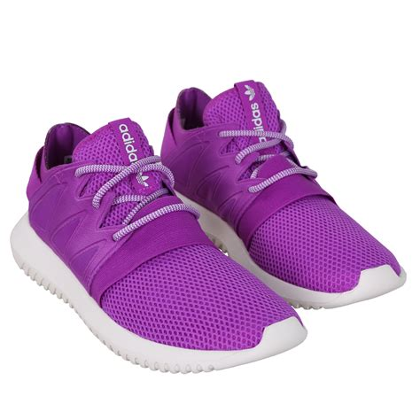 adidas shoe wmns tubular viral low sneaker purple white