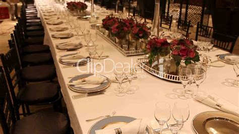 elegant dinner settings elegant dinner table setting royalty free video and stock