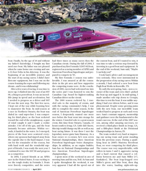 performance boats magazine tammy wolf featured in performance boats magazine female