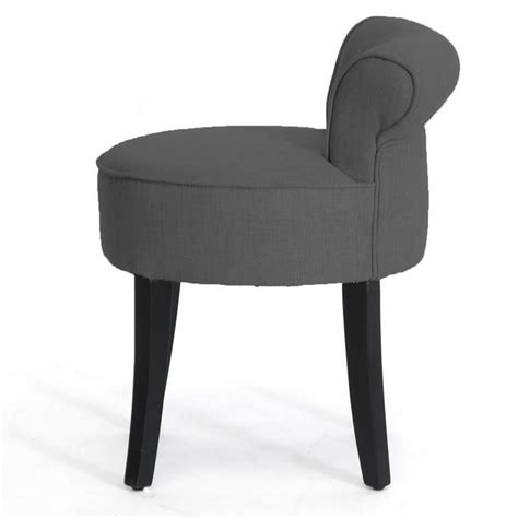 Modern Vanity Chairs by Gray Linen Modern Button Tufted Low Lounge Accent