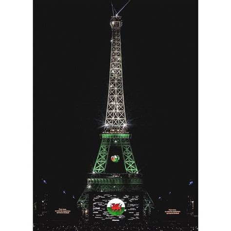 eiffel tower light up the eiffel tower lights up to salute wales on of