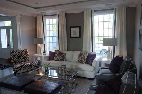 Mauve Living Room Wallpaper Modern Mauve