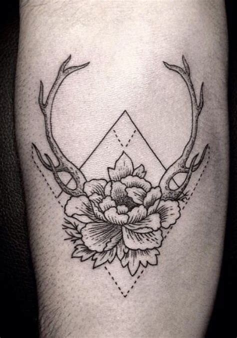 antler tattoo behind ear several different things i like in one definitely a