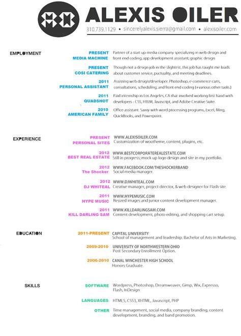 13729 professional graphic design resume graphic design