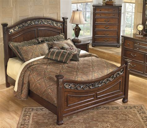 ashley king bedroom set ashley b526 leahlyn king bed set