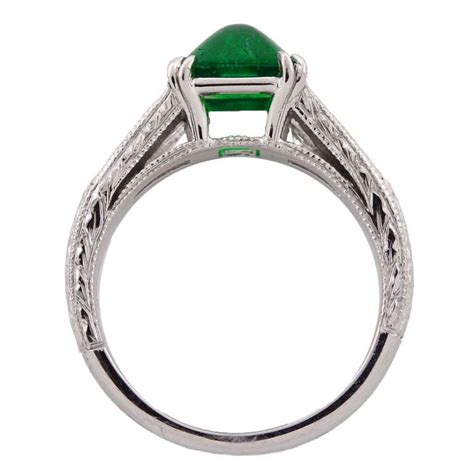 contemporary sugarloaf muzo emerald and ring for