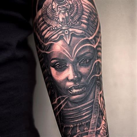 queen nefertari tattoo egyptian queen tattoos on pinterest sphinx tattoo