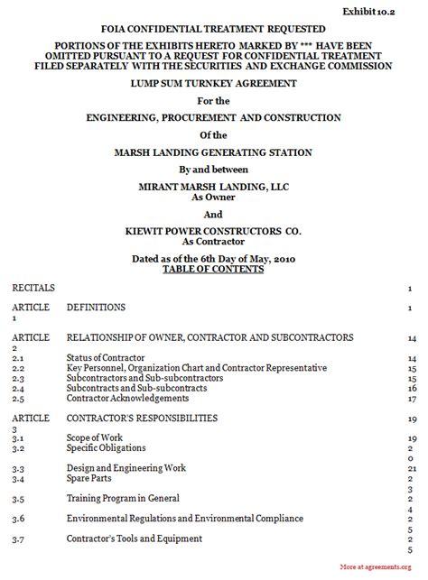 construction partnership agreement template procurement and construction agreement sle procurement