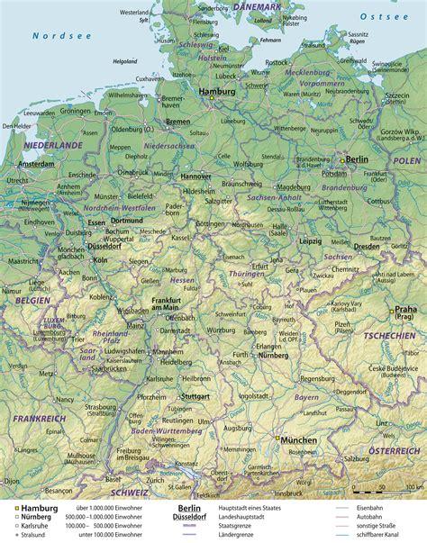 deutsche mappe landkarte deutschland grosse 220 bersichtskarte weltkarte