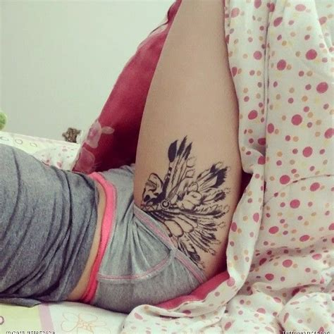 beautiful thigh tattoos beautiful placement artists org