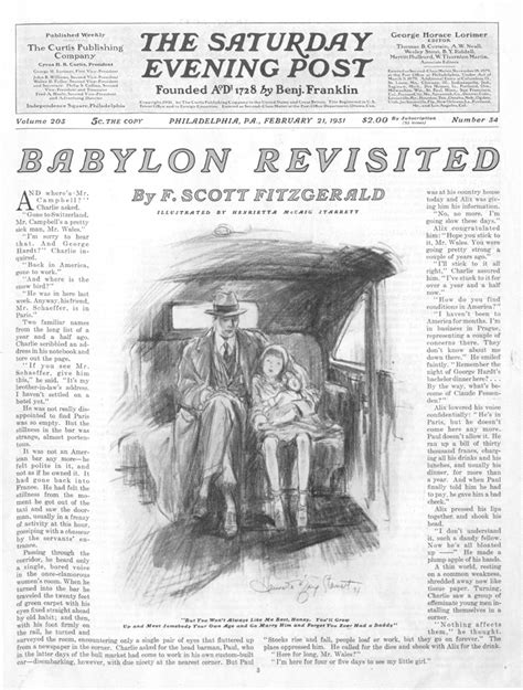 themes in fitzgerald s short stories how the saturday evening post helped create gatsby the