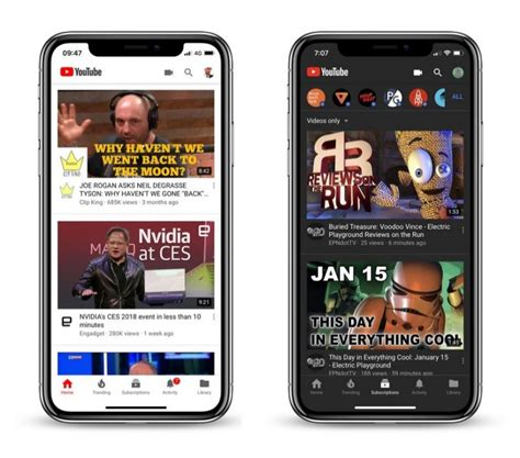 youtub mobil currently testing new mode for mobile ios app