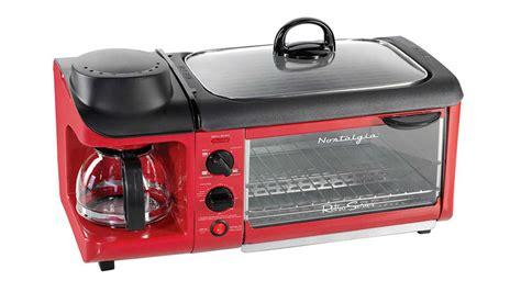 Aroma Breakfast To Go 3 In 1 Toaster Oven Grill Coffee Maker by Make Bacon Eggs Coffee And More With A Single Kitchen