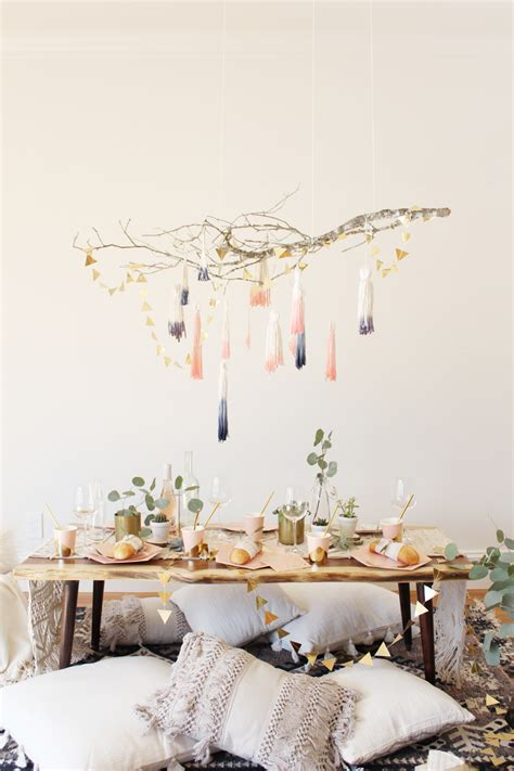 diy cozy home decorating cozy home decor diy dip dye tassel chandelier shop