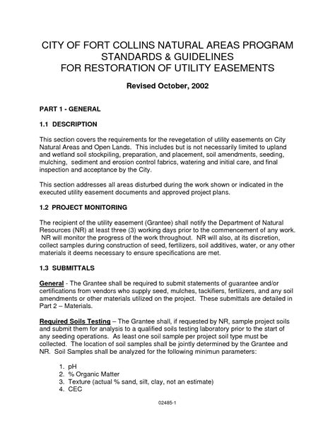 easement agreement template road and utility easement letter of agreement sle pdf