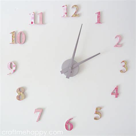 Spi Home Decor nursery clock craft me happy nursery clock