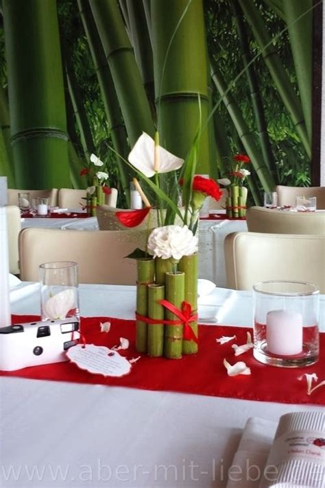 Tischdeko Hochzeit Chagner by Tischdeko In Rot Wei 223 Hochzeitsdeko Renautria Geb 252 Ndelt