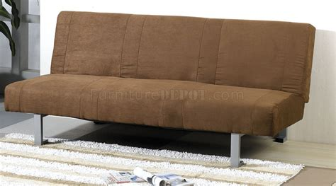 micro suede couch chocolate micro suede contemporary sofa sleeper w canister