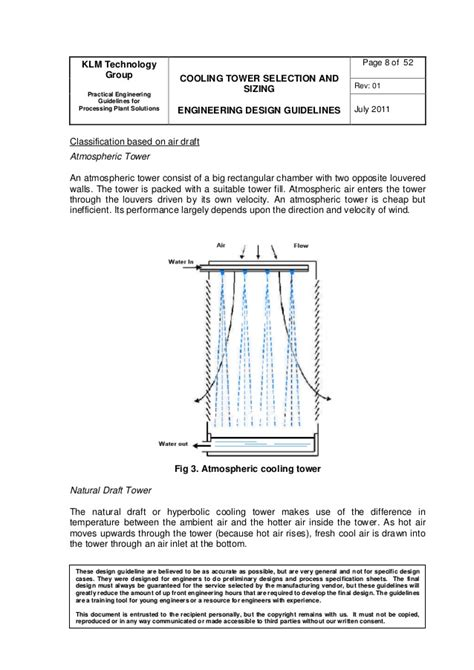 design criteria cooling tower engineering design guidelines cooling towers rev01