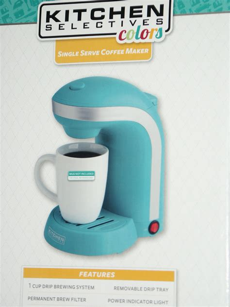 Kitchen Selectives Single Serve Coffee Maker by New Kitchen Selectives Colors Single Serve Coffee Maker