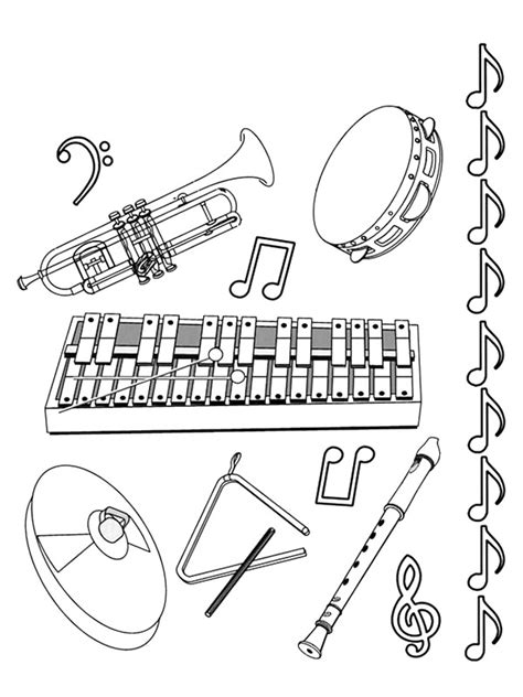 Coloring Pages Percussion Instruments | coloring page musical instruments musical instruments