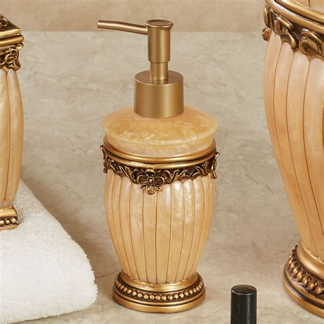 roma gold bath accessories
