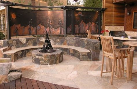 amazing seating area   fire pit
