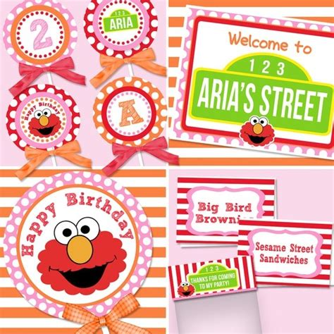 printable elmo birthday banner 21 best images about elmo themed birthday ideas on pinterest
