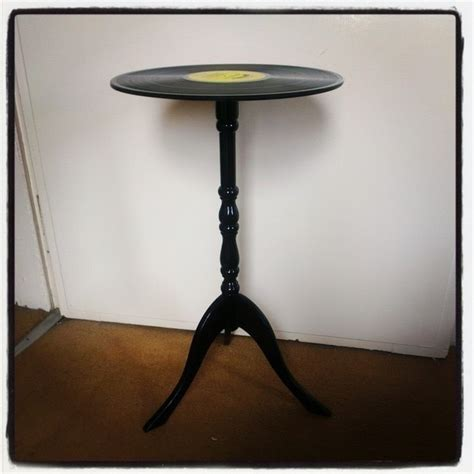 retro vinyl record side table 183 how to make a recycled
