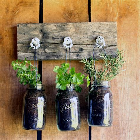 Jar Herb Planter by 30 Amazing Diy Planters You Can Make Out Of Stuff