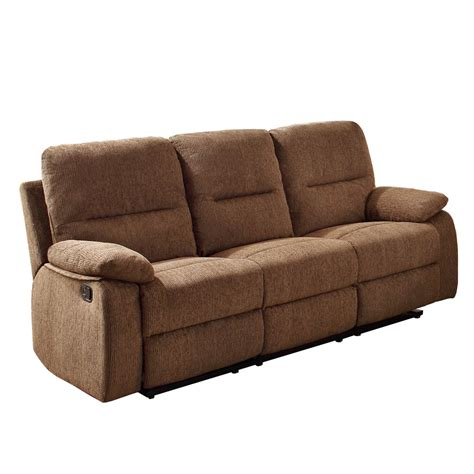 couch with cup holders reclining sofa with center console from sears com