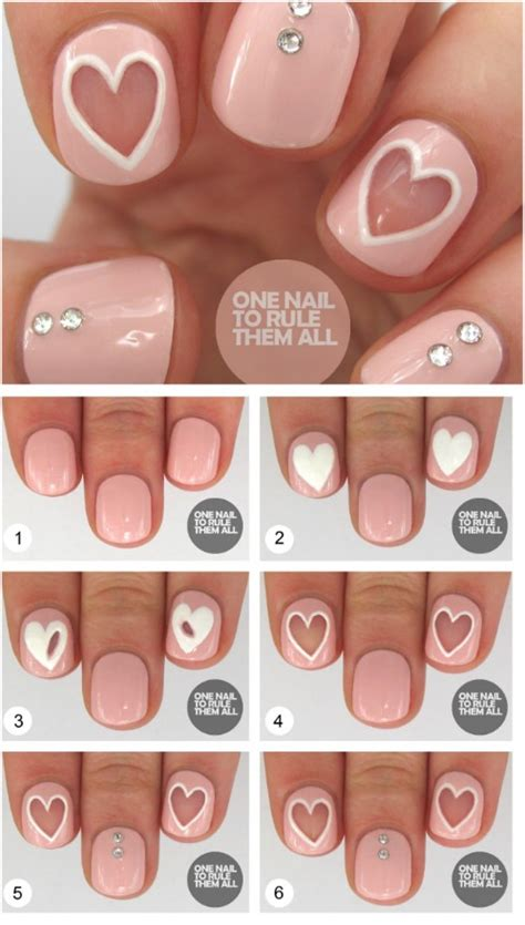 Nagel Ideeën by 50 Best Hearts Nail Design Ideas