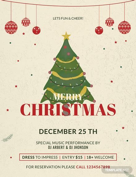 Free Publisher Christmas Flyer Template