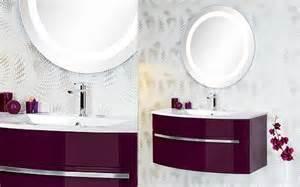 meuble bas de salle de bain aubergine
