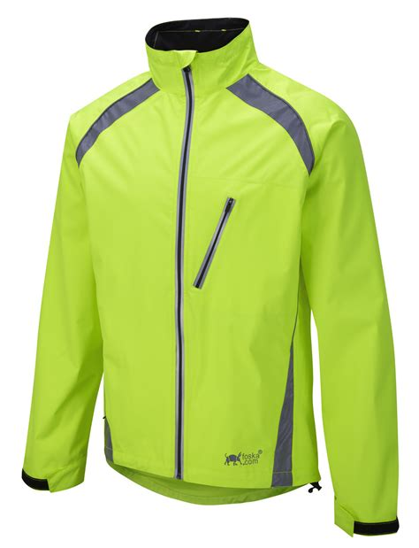 high visibility waterproof cycling jacket new oska hi vis yellow waterproof cycling jacket foska com